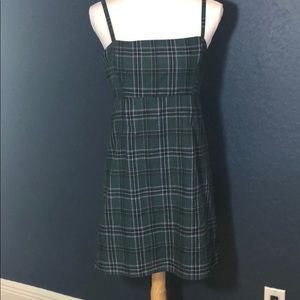 Urban Outfitters green plaid Dress sz 6